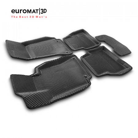 3D коврики Euromat3D EVA в салон для Mercedes C-Class (W205) (2015-) № EM3DEVA-003514